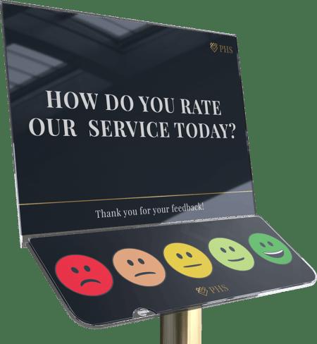 Guest feedback terminal station