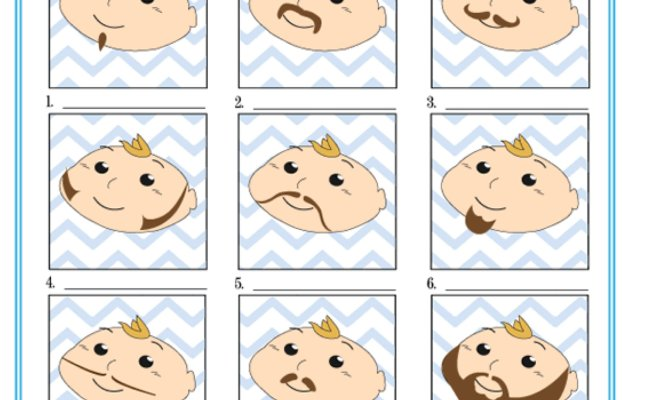 Printable Mustache Bash Game Baby Shower Ideas