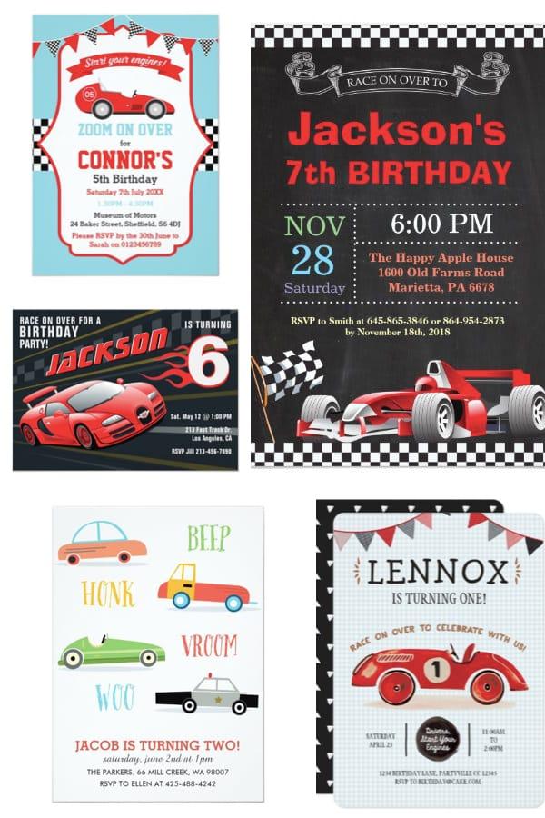 race car party planning ideas