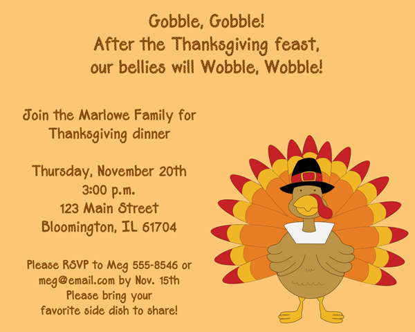 Thanksgiving Party Invitation Party Ideas