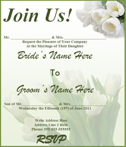 18+ Wedding Party Invitations