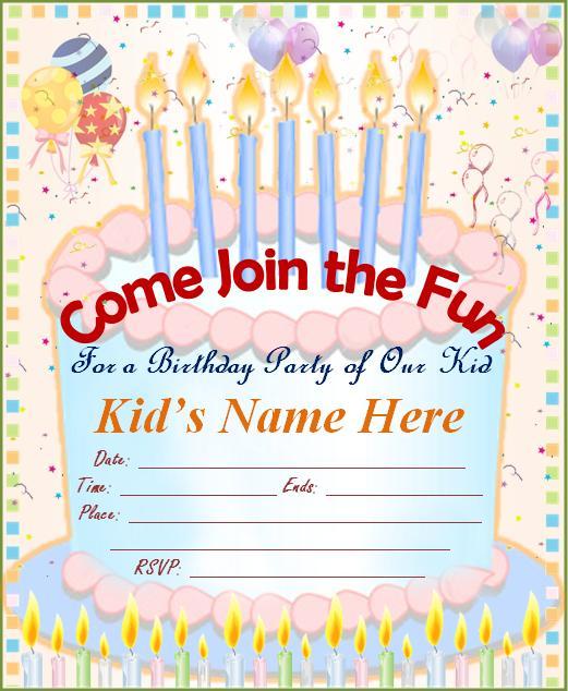 12+ Birthday Party Invitations