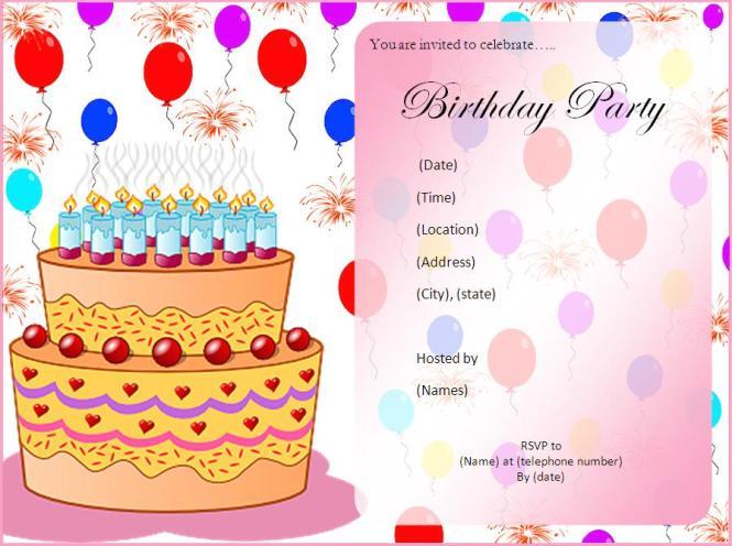 Birthday Cards For Invitation Cobypic Com