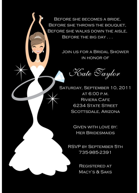 15 bridal shower party invitations party ideas for Make bridal shower invitations