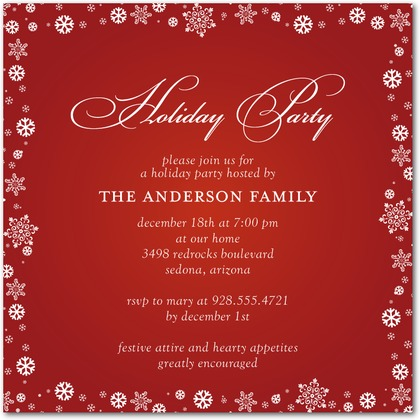Christmas Party Invitations  Party Ideas
