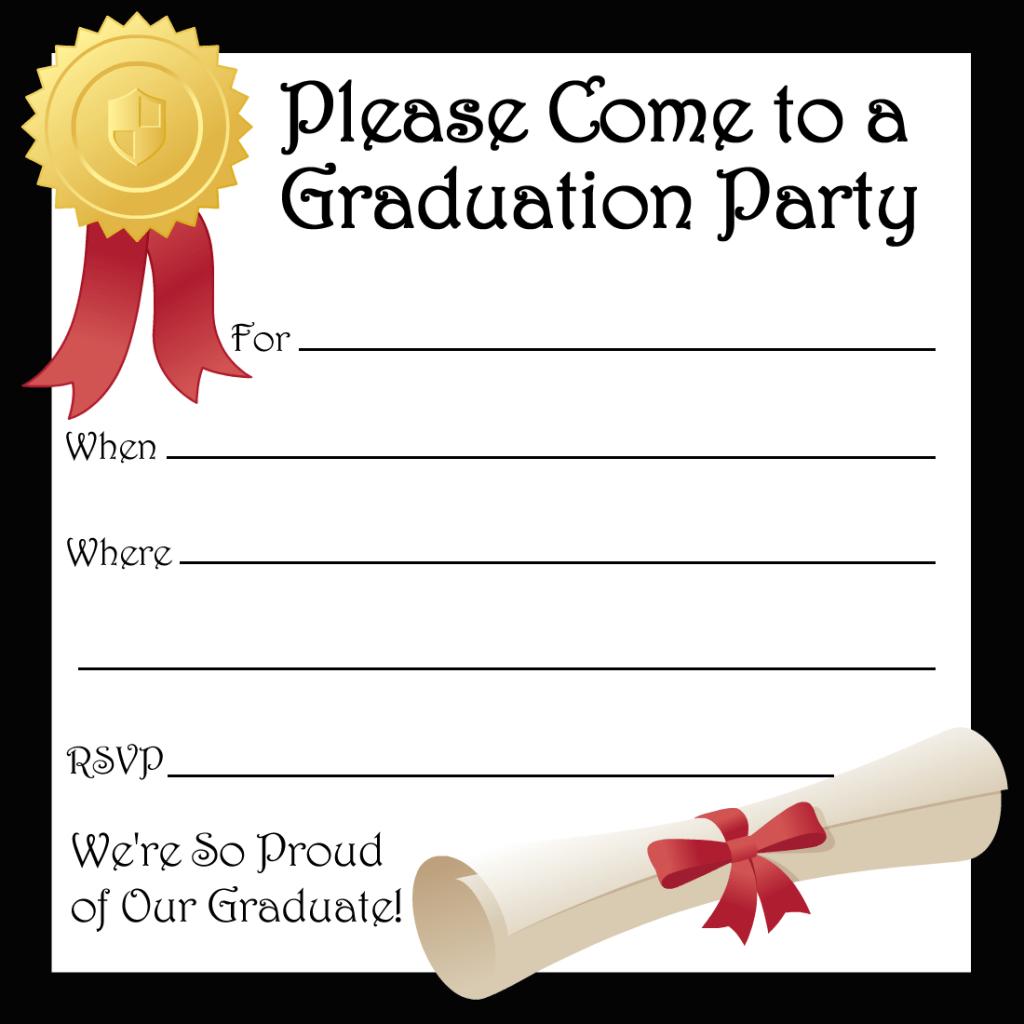 graduation party invitation templates free printable