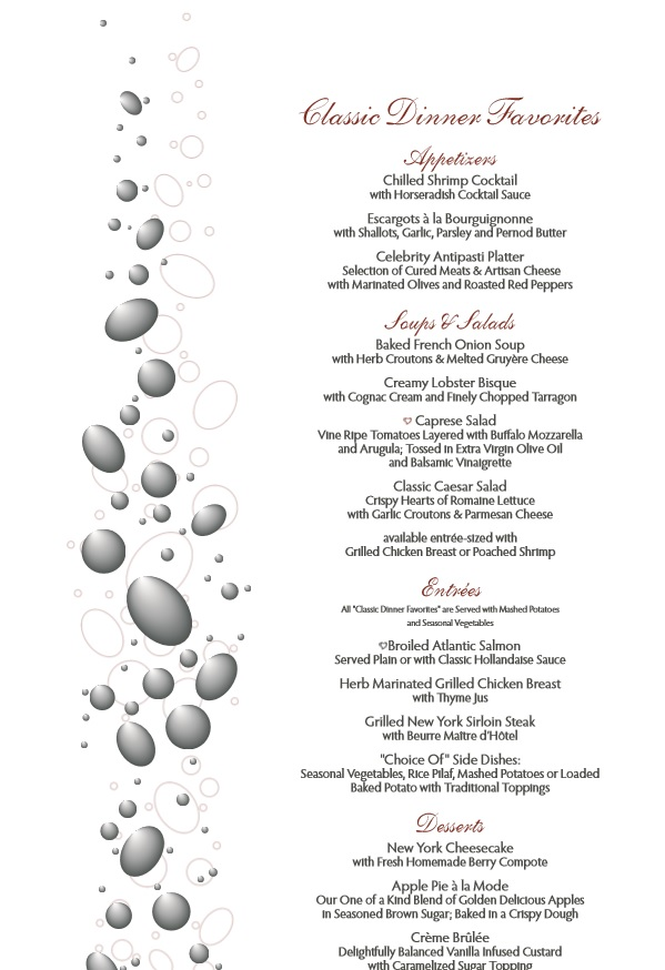 Download Free Dinner Party Menu Templates:  Free Dinner Menu Templates