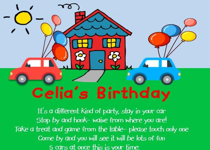 quarantine birthday party invitations