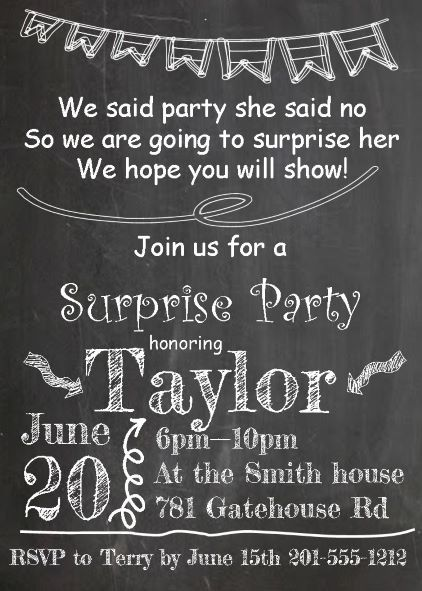 Surprise Party Invitations NEW Selections Spring 2019