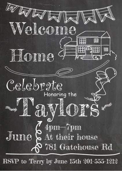 Coming Home Party Invitations NEW Selections Summer 2018