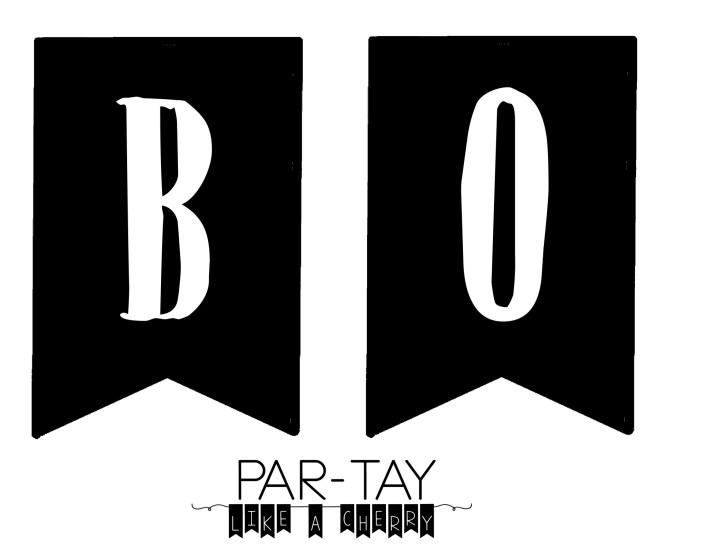 boo banner B O