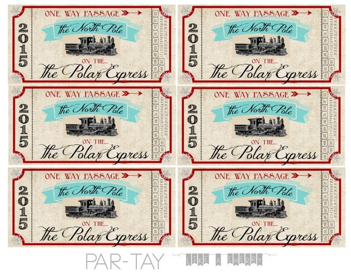 polar express free printable train tickets