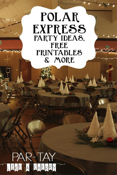 polar express party ideas and free printables