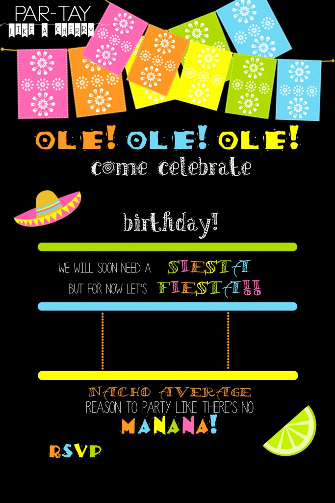 free editable fiesta invitation party