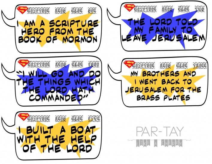 scripture hero clue cards-nephi