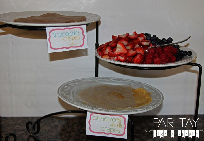 crepe buffet free printable food lables