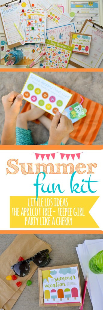 """summer fun kit printable pack loaded with tons of fun games and activities to chase away the phrase """"im bored""""."""
