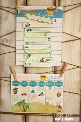 summer schedules printables