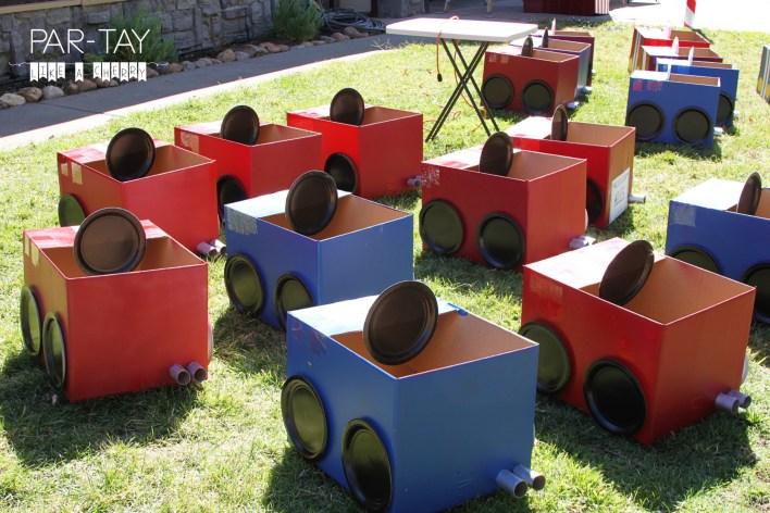 cardboard box cars