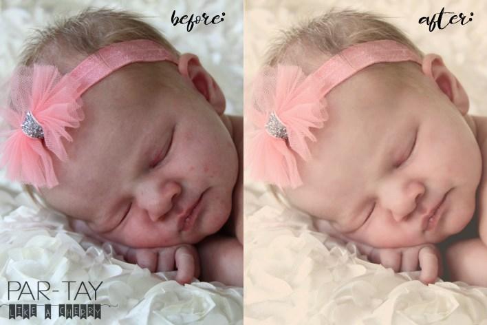 newborn baby photo editing