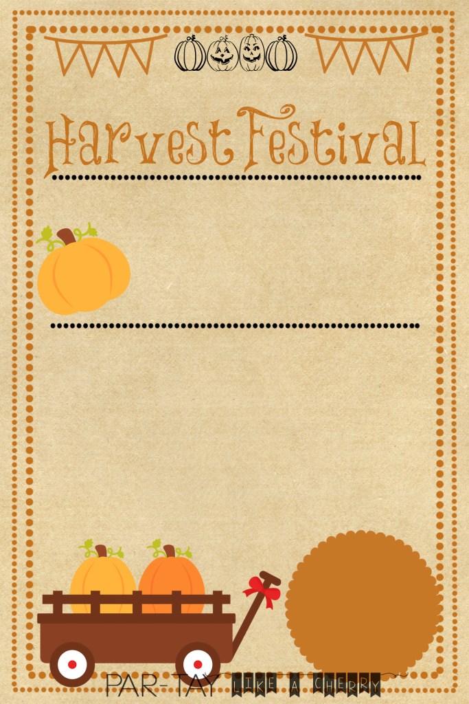 free harvest festival template