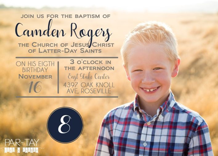 Have this baptism announcement and invitation personalized for just $5