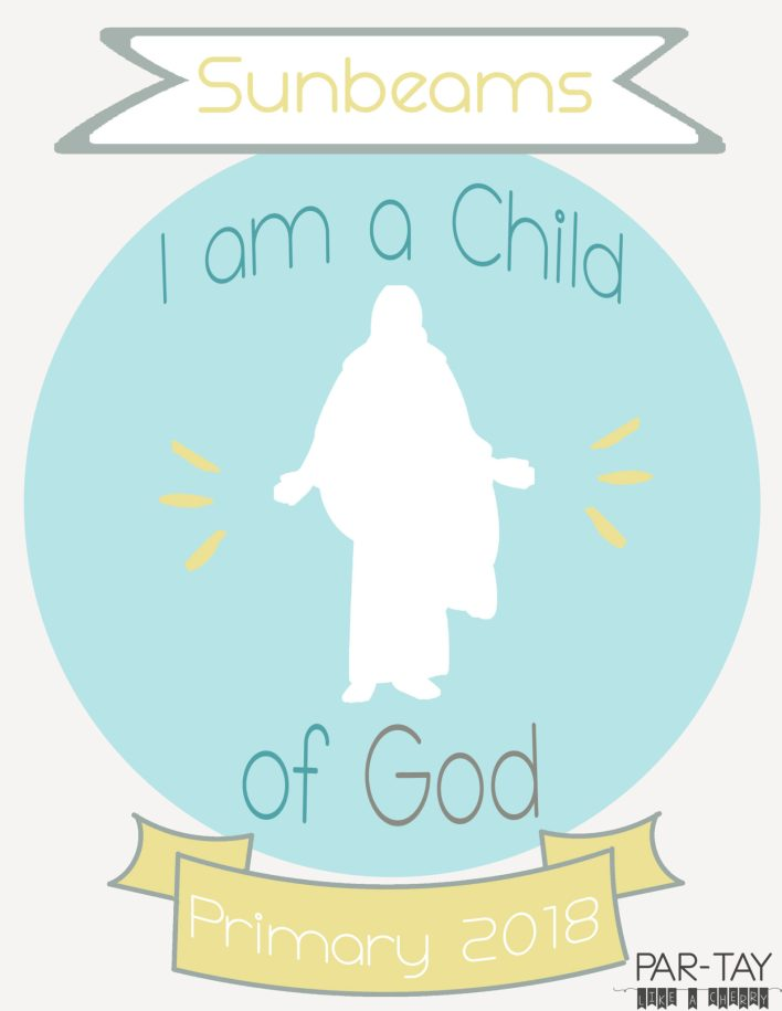 I am a child of god, primary 2018 binder covers free printable