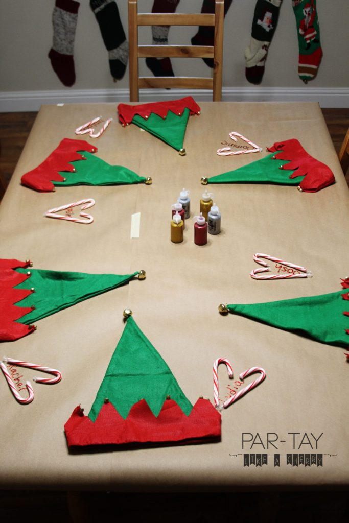 preschool christmas party ideas, tips and free printables. Cover the table with craft paper to protect it