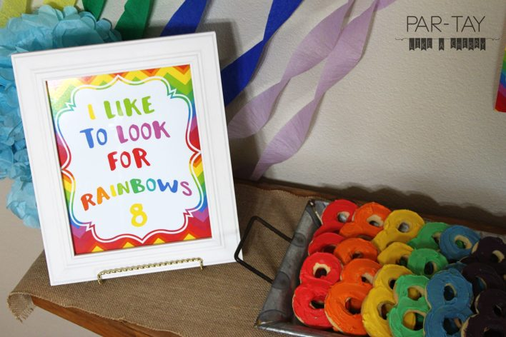 I like to look for rainbows free printable great for baptisms, great to be 8, or birthday parties