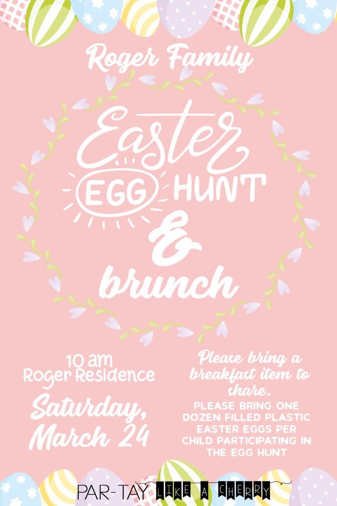 free easter egg hunt invitation