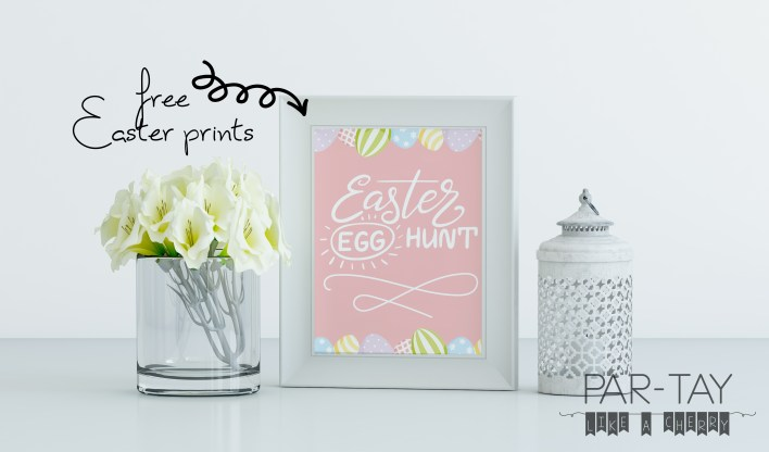 free 8X10 easter egg hunt prints