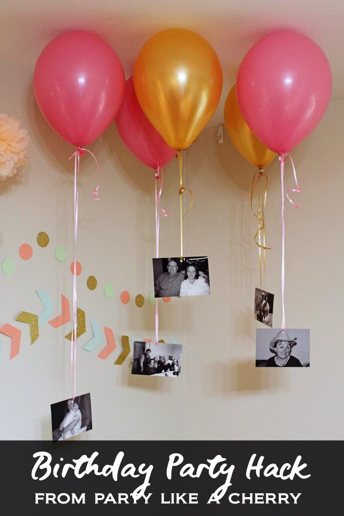 birthday party balloon hack