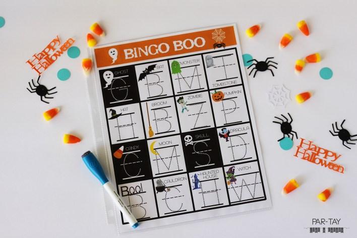 Halloween bingo alphabet cards, perfect for preschool and kindergarten