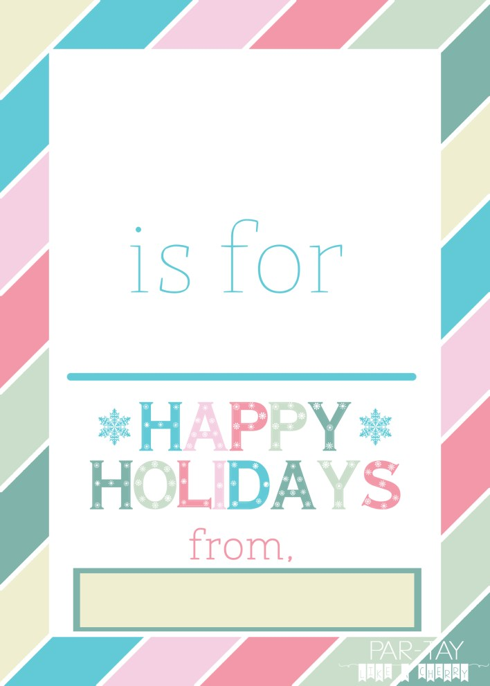 holiday teacher gift free printable