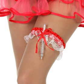 Garter with syringe pen