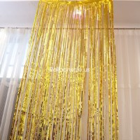 Cheap Gold Fringe Door Curtain