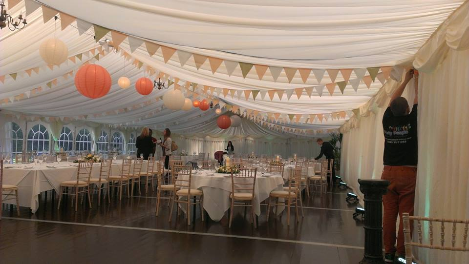 chair covers scotland wedding folding for sale chinese lantern decorations hilton dunkeld - party people | & decor ...