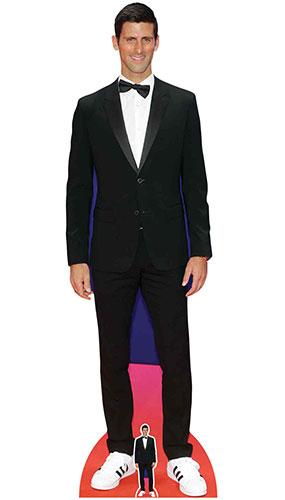 Novak Djokovic Smart Black Suit Lifesize Cardboard Cutout ...