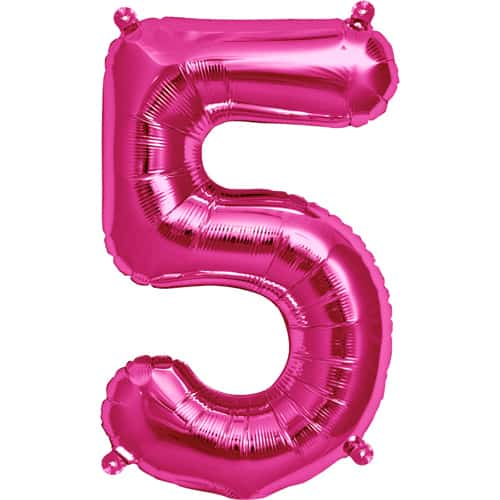 Number 5 Pink Supershape Foil Balloon 30 Inches