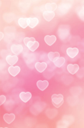 hearts pink design large