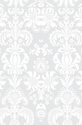white damask design large