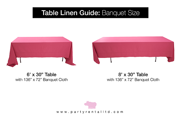 Table Overlay Size Chart Ratan, What Size Linen For 8ft Rectangular Table