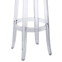 Ghost Bar Chair Log Rocking Kartell Stool For Rent In Nyc Partyrentals Us Bottom View