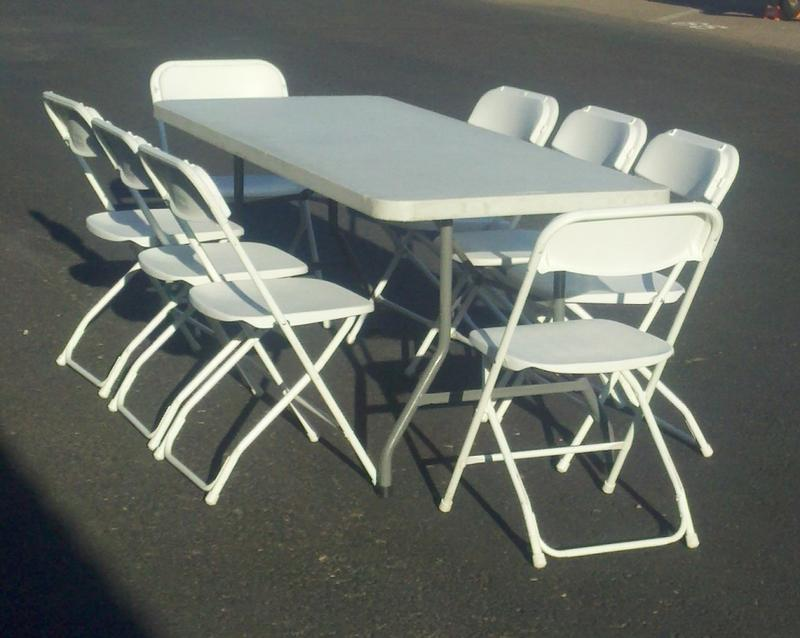 chair rentals phoenix wicker outdoor chairs party table and folding in scottsdale arizona 6 8 white