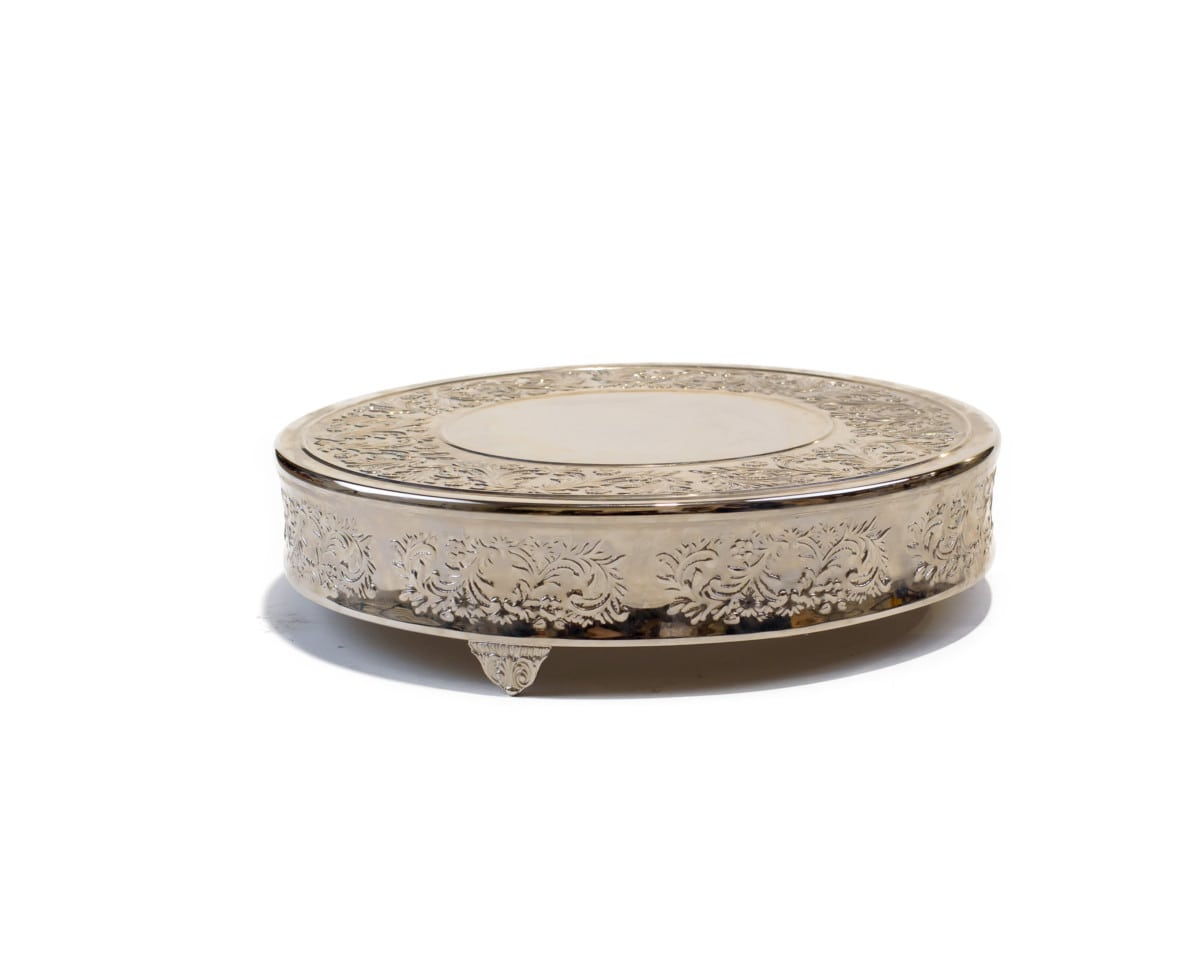 18 Silver Cake Stand 30 00