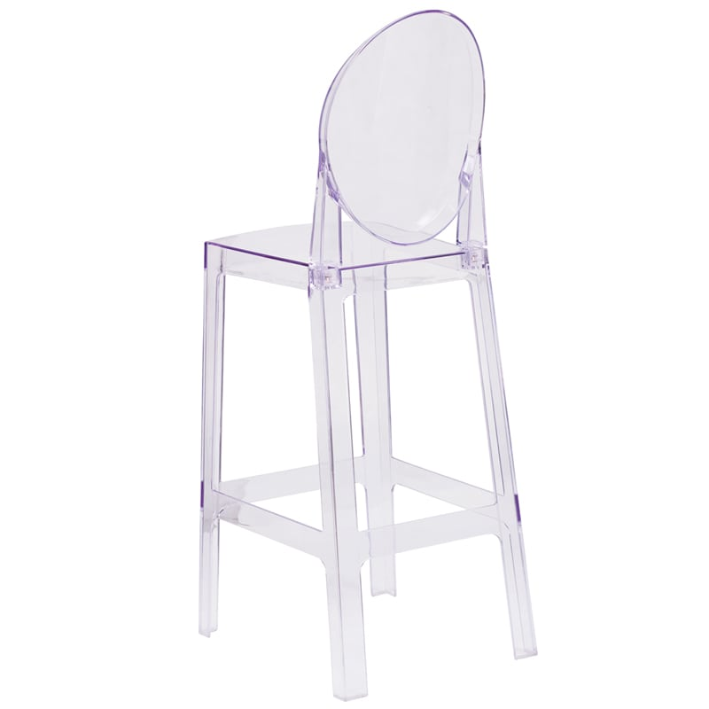 ghost bar chair ostrich multi position 3 in 1 beach stool clear 15 00 party rentals delivered prev