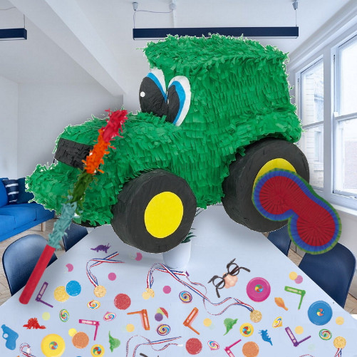 Tractor Pinata Party Kit With Sweets Favours And Confetti