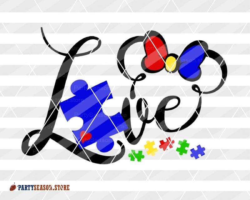 Download Love Autism svg