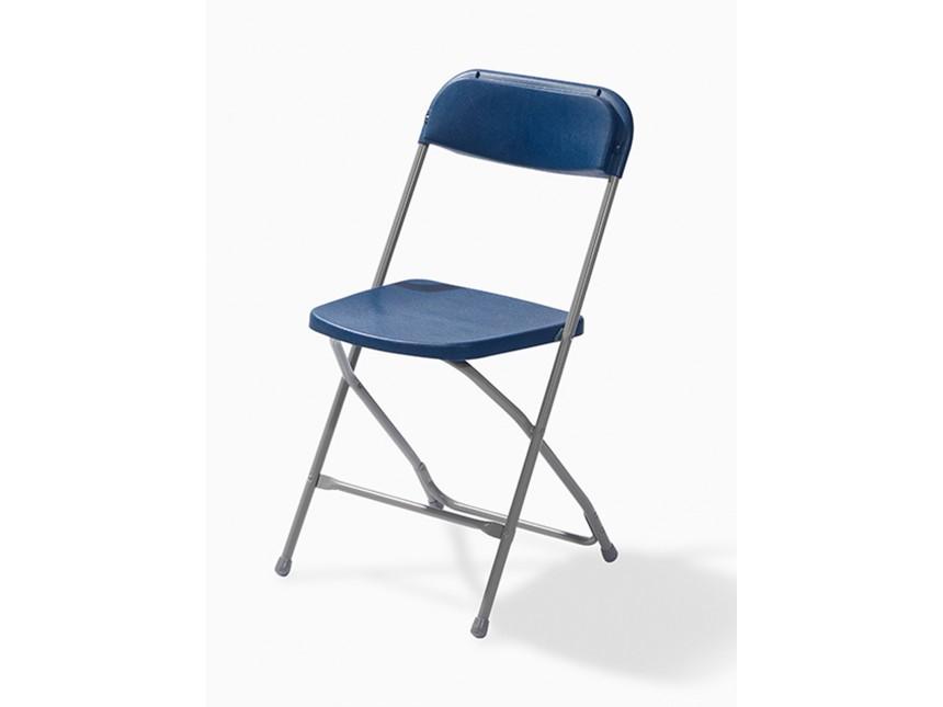 paquet de 50 chaises pliantes bleu gris partyspace