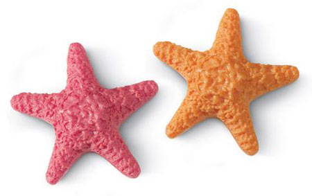 Orange or Pink Starfish Soap  Sculpted  Molded  Shaped  Sea  Beach Party Decorations